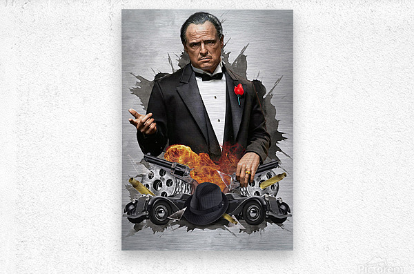 Vito Corleone  Metal print