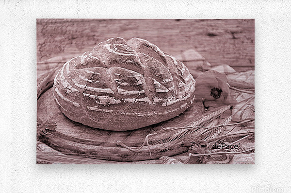 Rye Wheat Bread Home Made  Metal print
