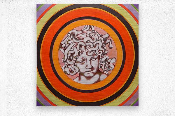 Medusa del Bernini  Metal print