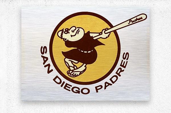 1980 san diego padres logo wall art  Metal print