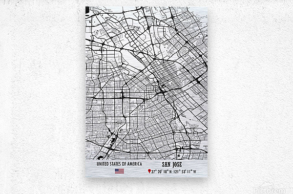 San Jose USA  Metal print