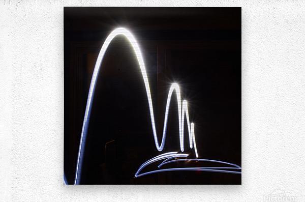 Light Trail   Metal print