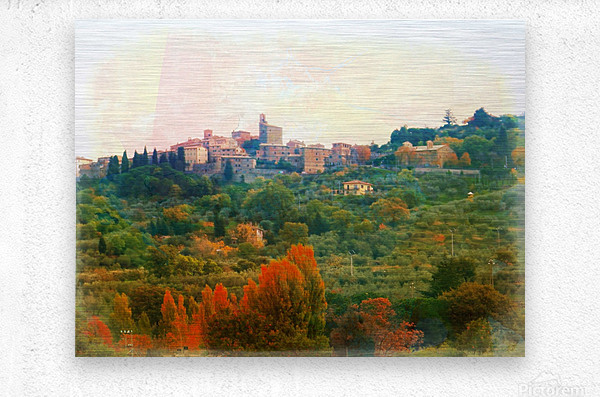 Panicale in Fall  Metal print