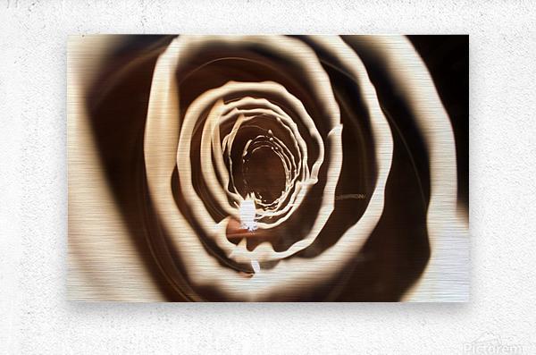 Fire tunnel 2  Metal print
