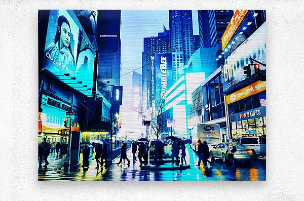 Time square New-York   Metal print