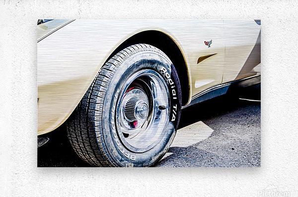Old corvette   Metal print