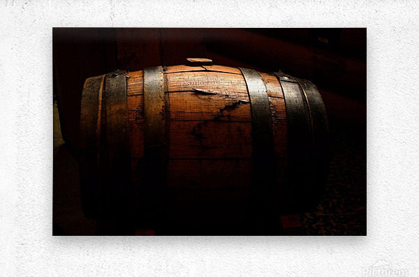 Old barrel  Metal print