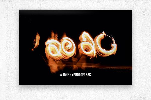 2020 Fire light painting  Metal print