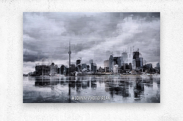 Toronto on the ice   Impression metal