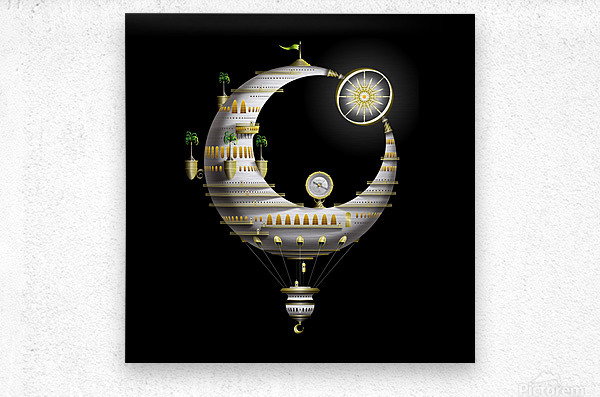 Marcelluna Balloone  Metal print