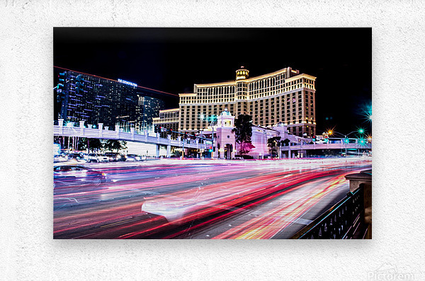 Las vegas night shot  Metal print