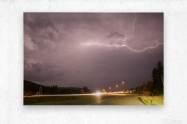 Lightning Catch   Metal print