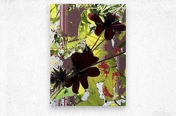 Mixed Floral Arrangement 200719  Metal print