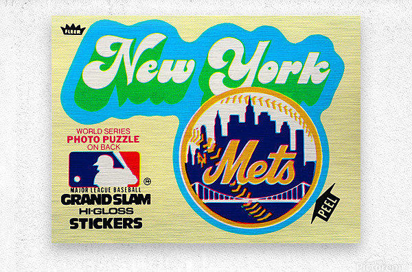 1979 fleer hi gloss sticker new york mets wall art  Metal print