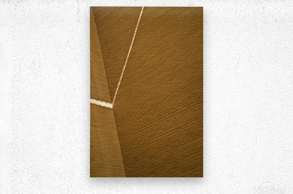 Bending Light on Brick  Metal print