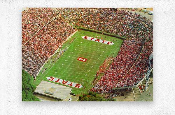 1985 nc state wolfpack carter finley stadium raleigh north carolina college football aerial photo  Metal print