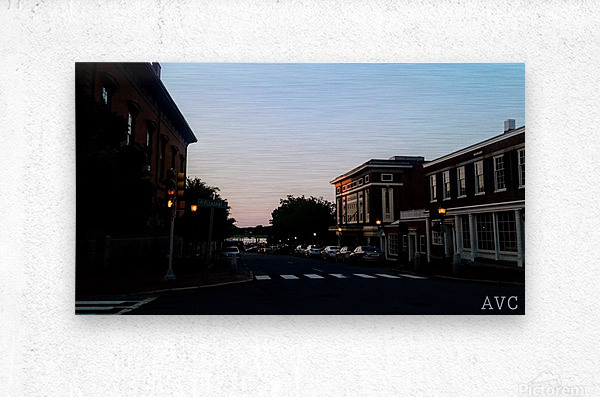 Corner of Pleasant  Metal print