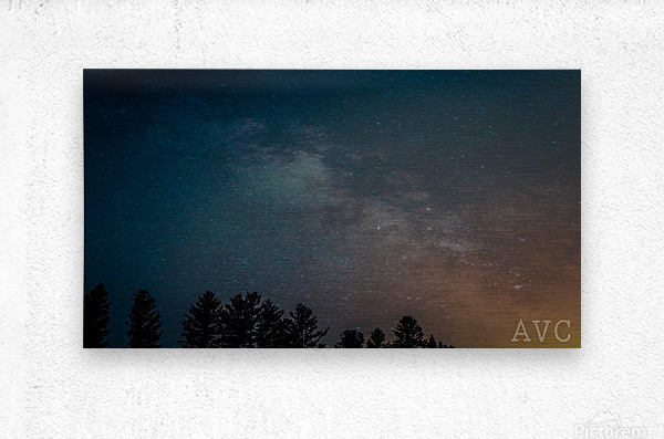 Goodnight Forest  Metal print