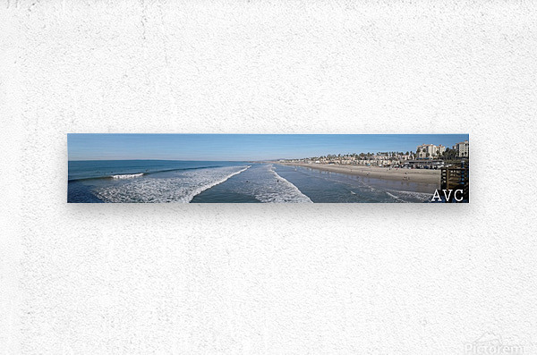 Oceanside CA Panorama  Metal print