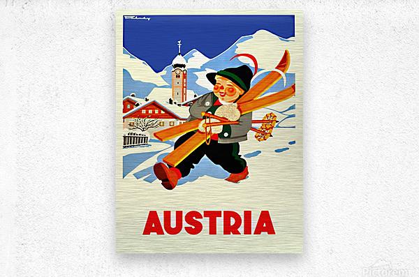 Little Skier from Austria  Metal print
