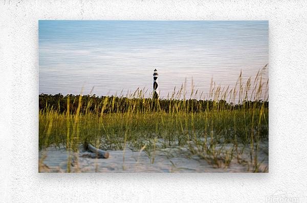 Lighthouse at Dawn  Metal print
