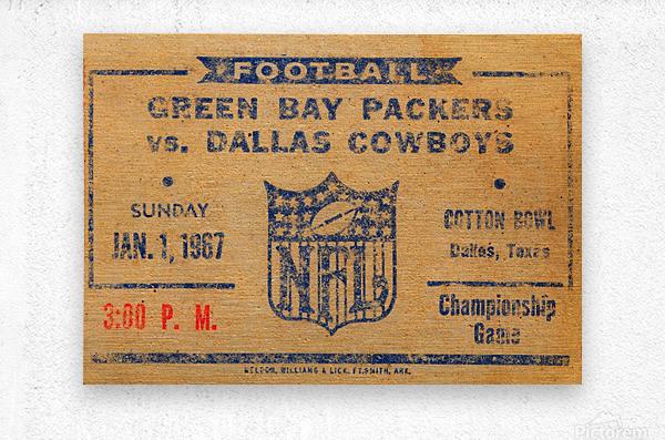 1967 green bay packers dallas cowboys nfl championship game  Metal print