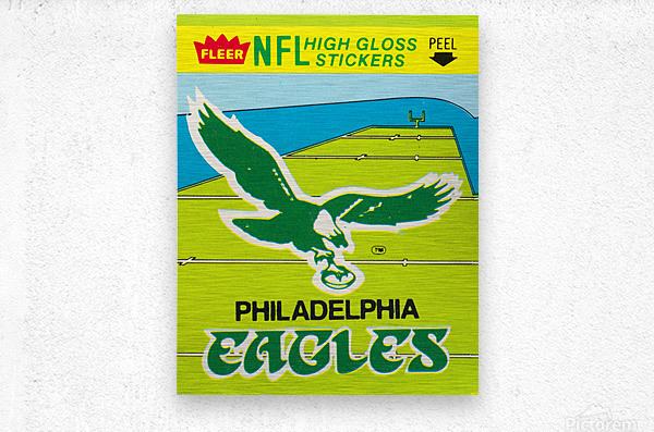 1981 fleer nfl high gloss stickers philadelphia eagles wall art  Metal print