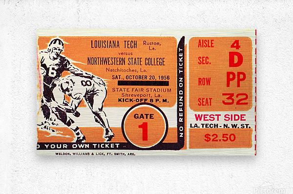 1956 Louisiana Tech vs. Northwestern State  Metal print