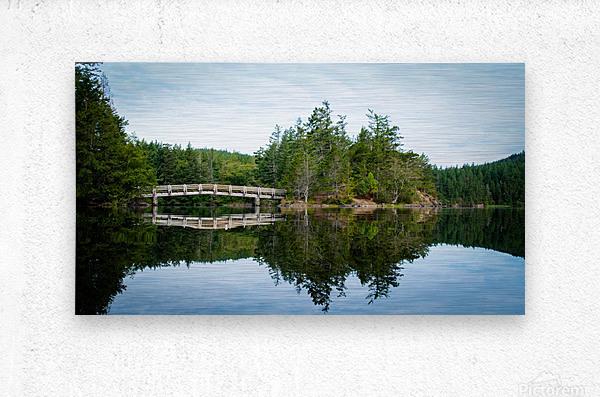 Beautiful Arch Bridge  Metal print