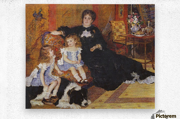 Madame Charpentier and her children  Metal print