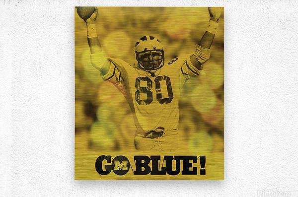 1979 michigan football go blue  Metal print