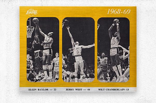 1968 los angeles lakers poster  Metal print
