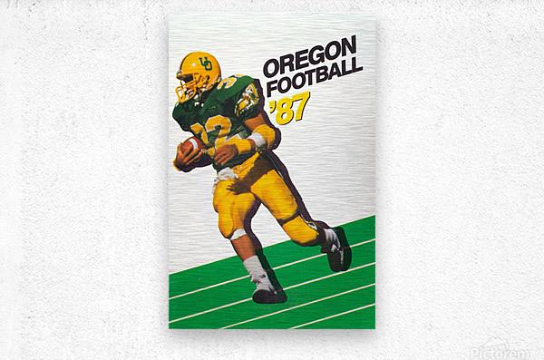 1987 oregon ducks retro football poster  Metal print