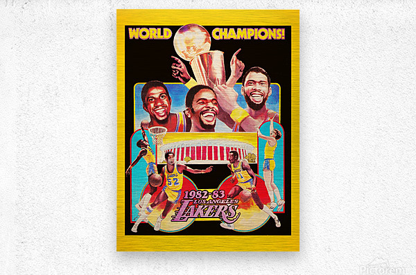 1982 LA Lakers Champion Poster  Metal print