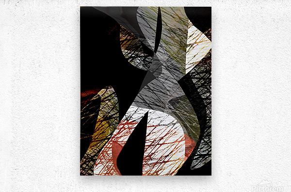 J A Z Z  Metal print