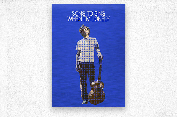 Song To Sing When Im Lonely   John Frusciante  Metal print