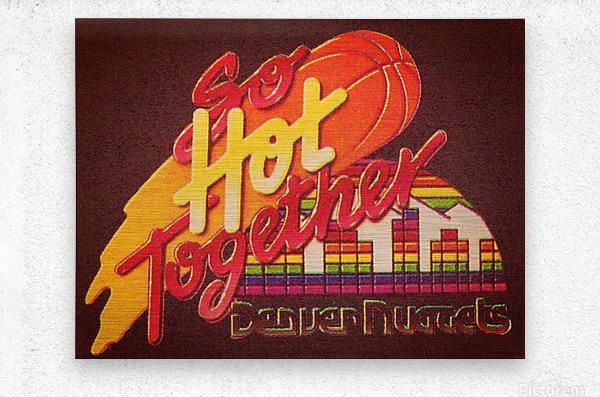 1988_National Basketball Association_Denver Nuggets  Metal print