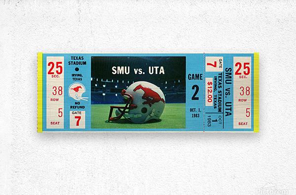 1983_College_Football_SMU vs. UTA_Texas Stadium_Dallas  Metal print