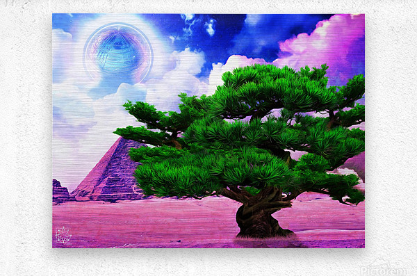 The Sublimate Tree  Metal print