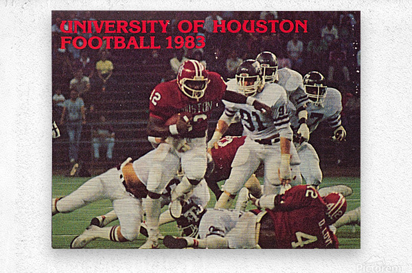 1983 houston cougars football  Metal print