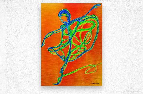 Burning desire to dance  Metal print
