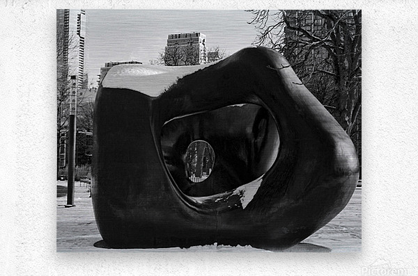 Two Large Forms at Grange Park 2  Metal print