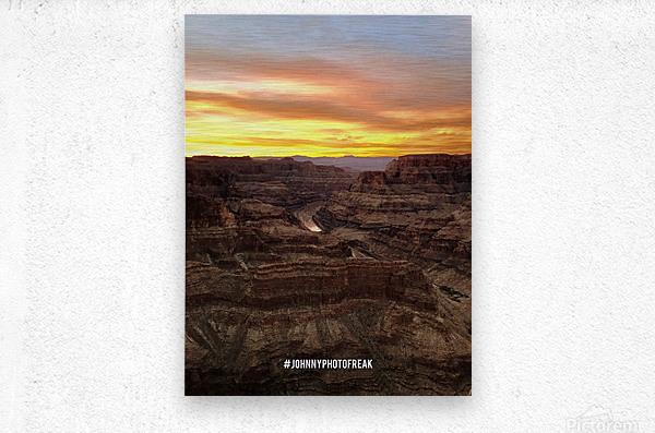 Canyon Sunset  Metal print