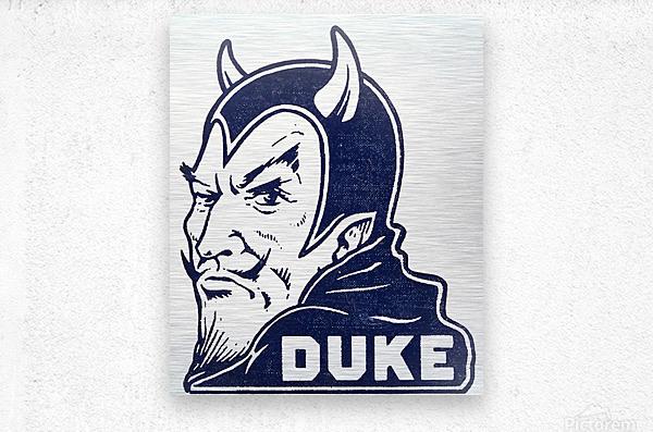 1950s duke university blue devil college art  Metal print