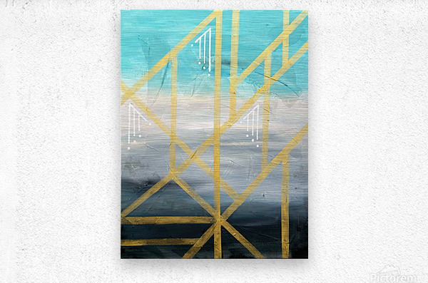 Art deco geometric III  Metal print