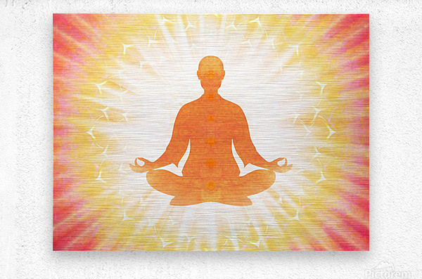 In Meditation - Be The Light  Metal print