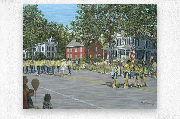 Labor Day Parade - Newtown Series 14X18  Metal print