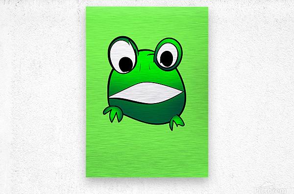 cute little frog  Metal print