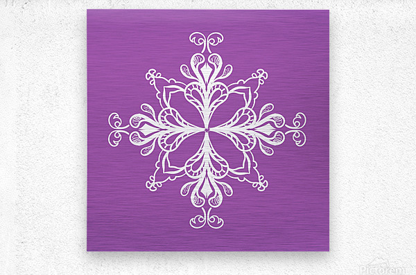 symmetrical doodle  Metal print