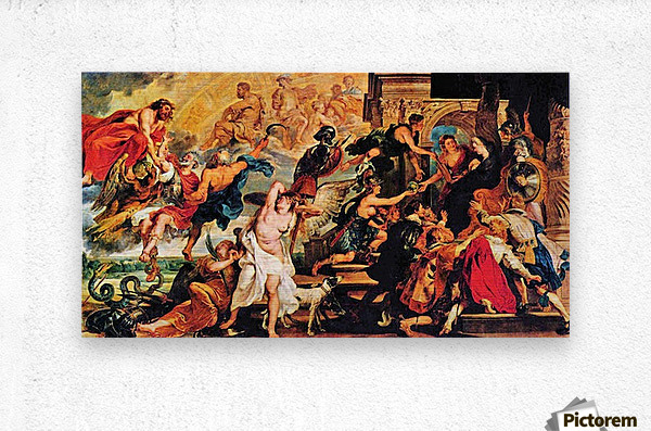 Medici s and the Apotheosis of Henry IV by Rubens  Metal print